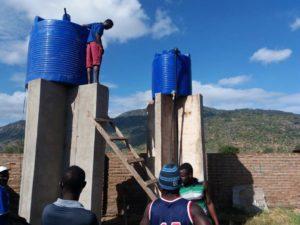 installation des water tank